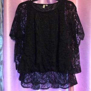 Beautiful Black lace blouse Madison small